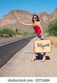 Hitch hiking blonde dp question