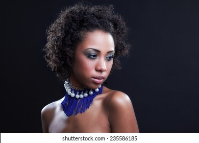 Fashion Beauty Girl. Gorgeous Woman Portrait. Stylish Haircut and Makeup. Hairstyle. Make up. Sexy Glamour Girl