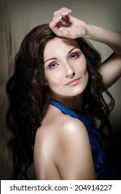 Fashion Beauty Girl. Woman with long brown hair