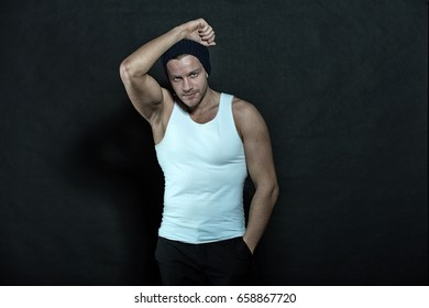 fashion and beauty, sport and fitness, health and dieting, man in hat