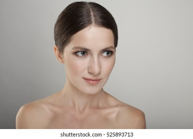Fashion beauty woman young studio portrait isolated