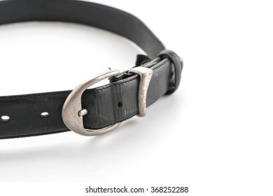 fashion belt on white background