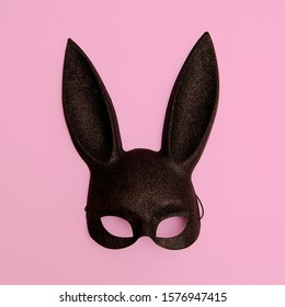 Fashion black rabbit mask. Gosplay clubbing hipster glamour style