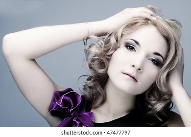 fashion blond woman