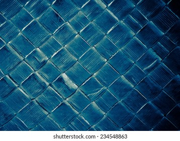 fashion blue leather texture with green reflex, for background