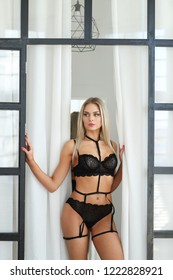 Fashion and body. Woman in sexy lingerie