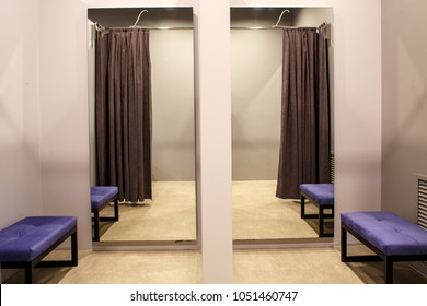 fashion boutique interior, fitting room