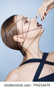 Fashion closeup portrait