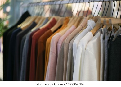 fashion cloth in a boutique store