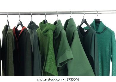 fashion clothing on hanging