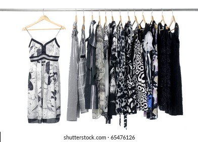 Fashion clothing rack display on hanging