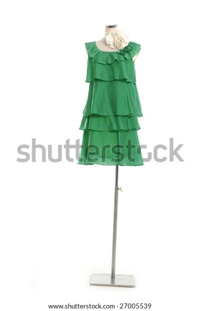 Fashion colorful clothing on display