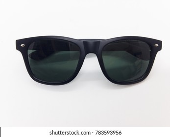 Fashion concept, black sunglasses isolated on white background with clipping path.