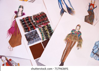 Fashion Design Sketch Images Stock Photos Vectors Shutterstock