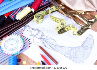 Fashion designer close up
