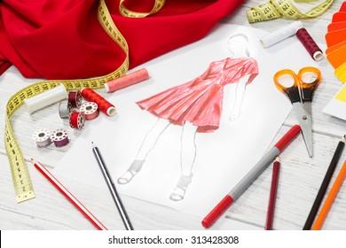 Fashion Designer Tools Images Stock Photos Vectors Shutterstock