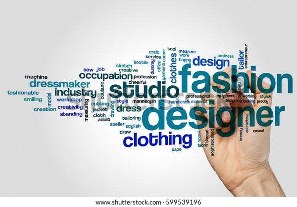 Fashion Designer Word Cloud Concept Stock Photo Edit Now 599539196