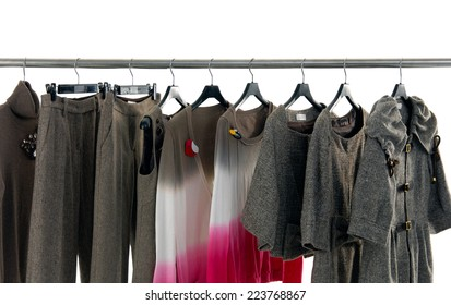 Fashion female,autumn clothes rack display