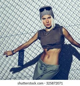 Fashion Girl Military Glam style.