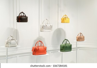 Fashion handbags in a shop window