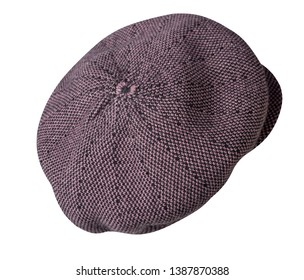 fashion hat  with  visor isolated on white background. colored hat side view .back view