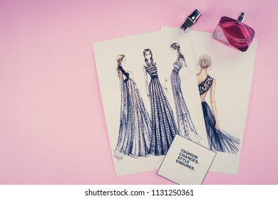 fashion illustrations background texture