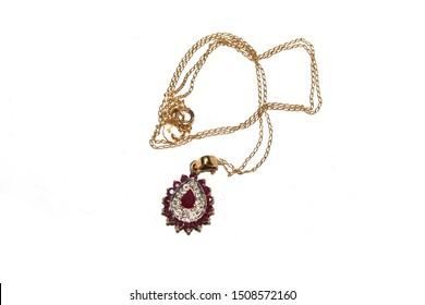 Fashion Jewellery on White Background