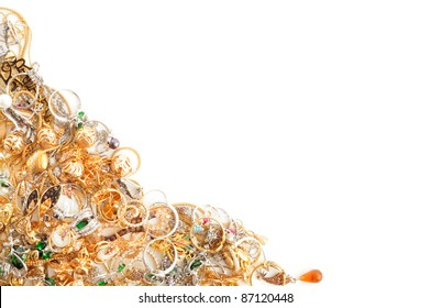 Fashion jewelry framework,  on a white background