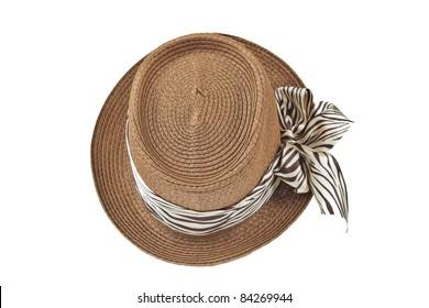 Fashion lady hat top view