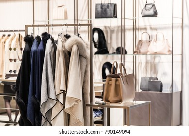 Fashion luxury elegance clothes in the shop