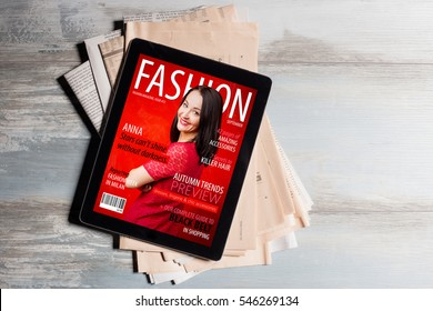 Fashion Magazine Cover Images Stock Photos Amp Vectors Shutterstock