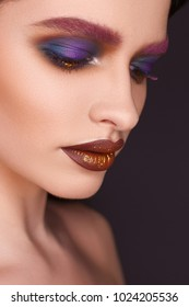 fashion makeup. beautiful portrait
