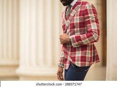 Fashion man outfit. luxury street style.