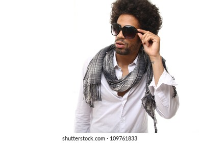 Fashion man with sunglasses
