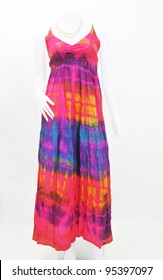fashion maxi dress on mannequin