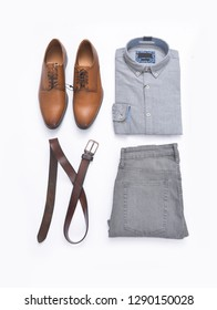 Fashion. Men's accessories and clothes set. Top view.