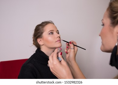 Fashion model make-up for a portrait photo