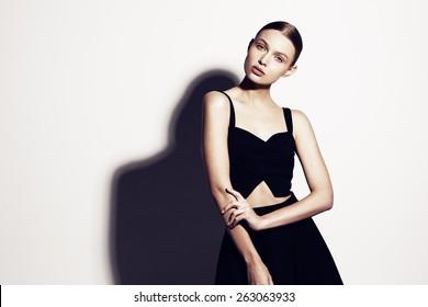 Fashion model portrait.Pretty young woman