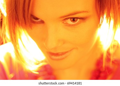 fashion model smiling at the camera