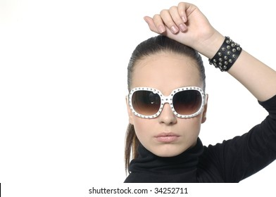 Fashion model with sunglasses