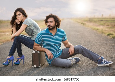 fashion models posing for a shoot