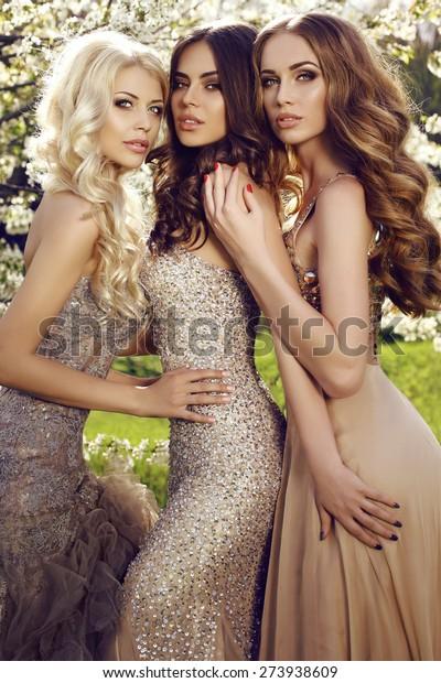Fashion Outdoor Photo Beautiful Gorgeous Women Stock Photo Edit Now 273938609