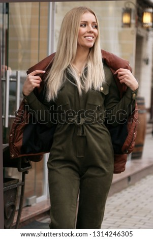 b29d16f1792 Fashion Outdoor Photo Beautiful Sexy Woman Stock Photo (Edit Now ...