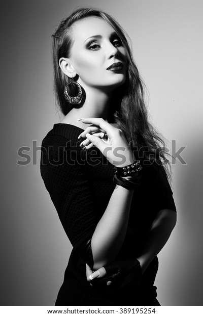 Fashion Photo Young Model Woman On Stock Photo (Edit Now