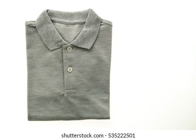 Fashion polo shirt for men isolated on white background