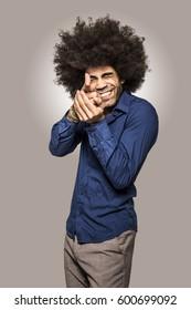 Fashion portrait beautiful  afro man