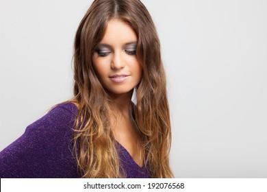 Fashion portrait of a beautiful young woman