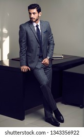 fashion portrait men shoot with suits and casual indoor