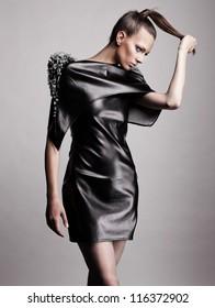 Fashion portrait of modern girl