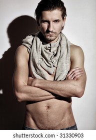 Fashion portrait of a stylish male